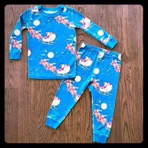 "Hanna Andersson ""Sleigh Ride"" Long John Pajamas"